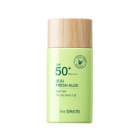 the SAEM Jeju Fresh Aloe Sun Gel SPF 50+ PA++++