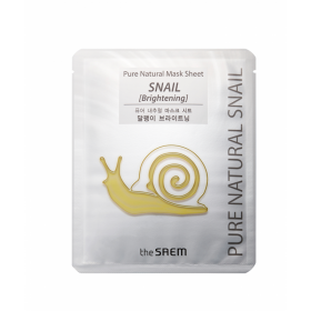 The Saem Pure Natural Mask Sheet Snail Brightening
