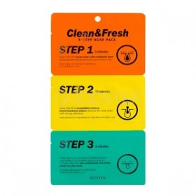 eunyul Clean & Fresh 3-STEP NOSE PACK