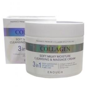 Enough Collagen Soft Milky Moisture Cleansing&Massage Cream