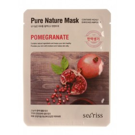 Anskin Secriss Pure Nature  Mask  Pomegranate